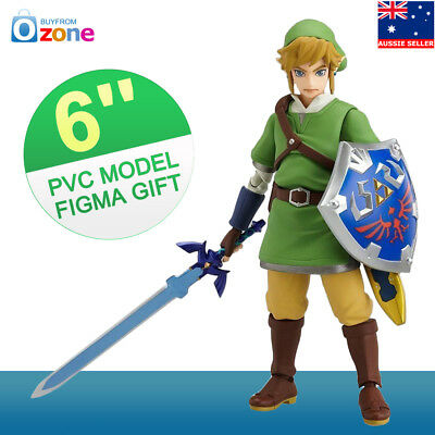 6'' The Legend of Zelda Link Skyward Sword Action Figure Toy Figma Model Gift