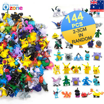 144pcs Pokemon Monster Figures Toys Mini Pikachu Mixed Gift Toys 2-3cm Random