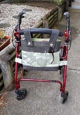 Walker Bag. Rollator accessory. Walker organiser tote. Handmade.
