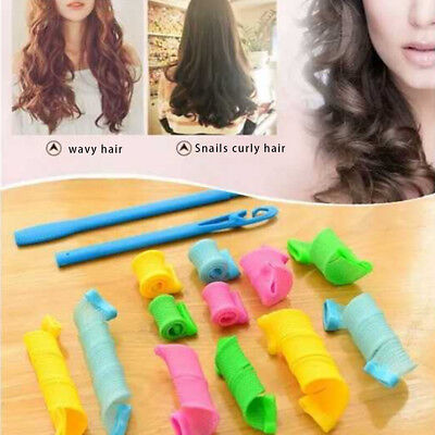 18pcs Usful DIY Magic Hair Curler Leverag Curlers Formers Spiral Styling Roller