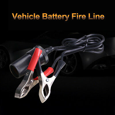 12V Car Cigarette Lighter Socket Cable Adapter Battery Alligator Clamp Clip Eage