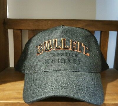Bulleit Frontier Whiskey Bourbon Cap Hat Fully Adjustable One Size Fits All~ NEW