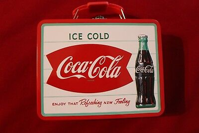 New Coca Cola Metal Box with Hinged Lid for Lunch Box, Storing or Decoration