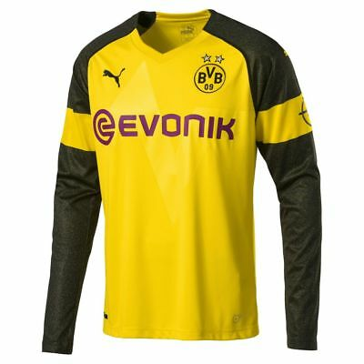 Puma Men Borussia Dortmund BVB Football Long Sleeve Home Jersey Shirt 2018 2019