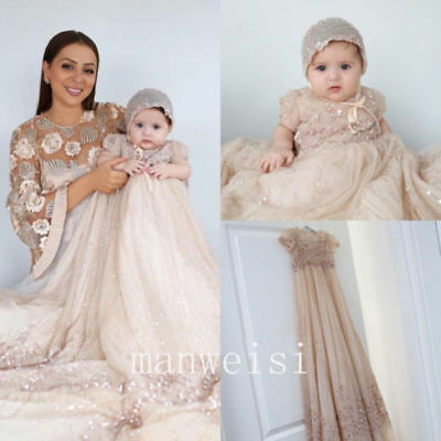 Unique Christening Gowns Crystal Infant Toddler Antique Vintage Baptism Dresses