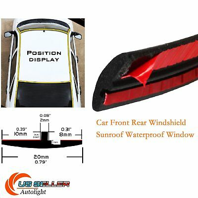 Rubber Seal Strip Trim For Car Front Rear Windshield Sunroof Weatherstrip 60INCH