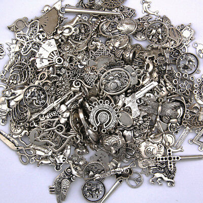 Vintage 50g/pack Random Shapes Jewelry Making Charms Pendants DIY Crafts
