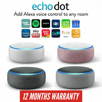 Amazon Echo Dot 3rd Generation Alexa Smart Speaker Charcoal Heather Sandstone...