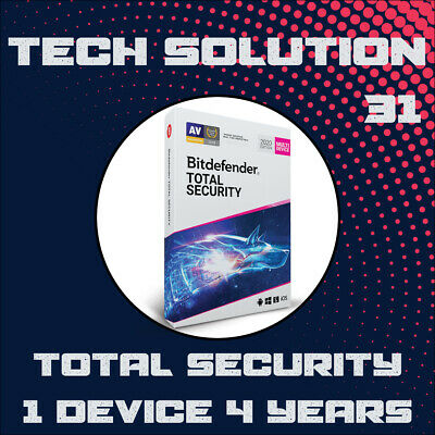 Bitdefender Total Security 2019 | 1 Device | 4 Years