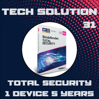 Bitdefender Total Security 2020 | 1 Device | 5 Years + FREE GIFT
