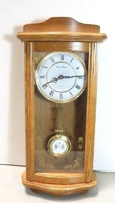 Vintage Daniel Dakota Oak Wall Clock Westminster hourly Chimes Quartz Movement