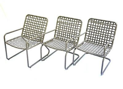 Vintage Brown Jordan Lido Sun Pool Chairs — Set of 3. Recently Restored