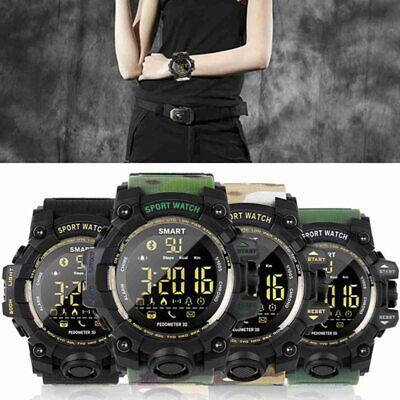 Waterproof Smart Sport Watch Bluetooth Camera Pedometer Men's Wristwatch Ca.
