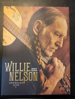 Willie Nelson: American Icon by Andrew Vaughan Large Hardcover Book