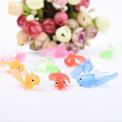 10pcs Cute Soft Rubber Simulation Small Goldfish Floating Gold Fish for Kid Toy