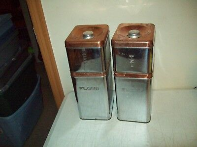 vintage Canister set USA made Lincoln Beauty Ware Great shape classic chrome