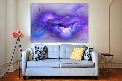 BEAUTIFUL PURPLE ABSTRACT  art Home decor High quality Canvas print choose size