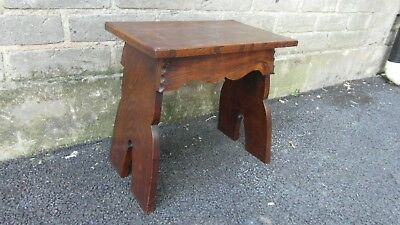 Vintage Oak Milking Stool - Makes Ideal Small Side table