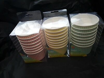 24 x ICE CREAM TUBS CUPS Party with spoons for party and all occasion
