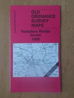 Old Ordnance Survey Maps One Inch Sheet 72 Yorkshire Wolds South 1905