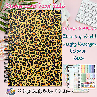 Food Diary, Planner Book 2019😍Log Stickers Sw Friendly Ww Calorie Dieting V433