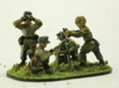 19th Century Miniature WWII German 25m Paratrooper 81mm Mortars & Cre Pack MINT