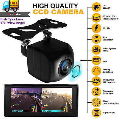 HD CCD Car Parking Rear View Camera 170° Night Vision Auto Reverse Backup Cam