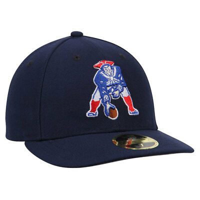 New England Patriots New Era Retro Logo 59FIFTY Low Profile Fitted Cap - 7 1/4