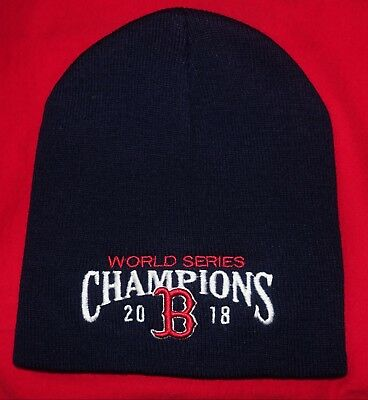 Boston Red Sox 2018 World Series Champs Navy Blue Winter Beanie Hat  KNIT HAT