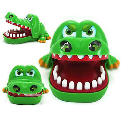 Large Crocodile Mouth Dentist Bite Finger Game Fun Playing Toy Children-Toys