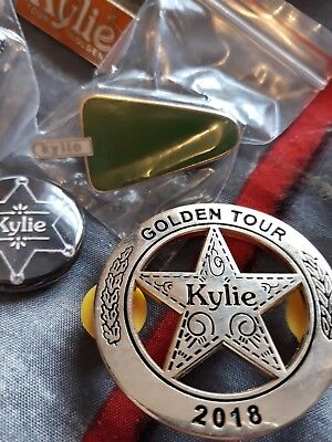 Kylie Golden Tour Sheriffs Pin Badge Limited Edition £25