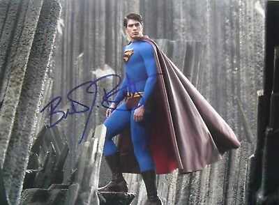 SUPERMAN RETURNS movie photo signed by BRANDON ROUTH, with COA, 8x10