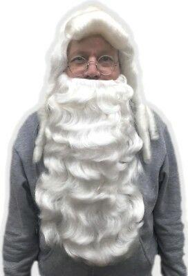 b7da6321e36b Deluxe Santa Claus Wig   Beard Costume Set Mr. Claus Costume Accessory St.  Nick
