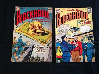 Lot Of 5 Silver Age Blackhawk Comics, #111, 112, 113, 114, & 118, 1957