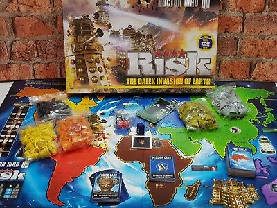 Doctor Who RISK The Dalek Invasion of Earth Board Game BBC 100% Complete