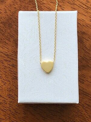 "Sterling Silver 925 Small Tiny Plain Heart Pendant Necklace 9mm 16""-18"""