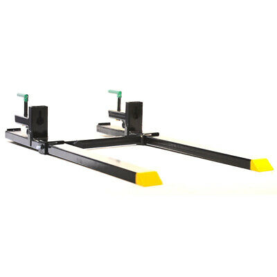 """Titan 43"""" HD Clamp On Pallet Forks 4,000 lb Capacity w/ Stabilizer Bar"""
