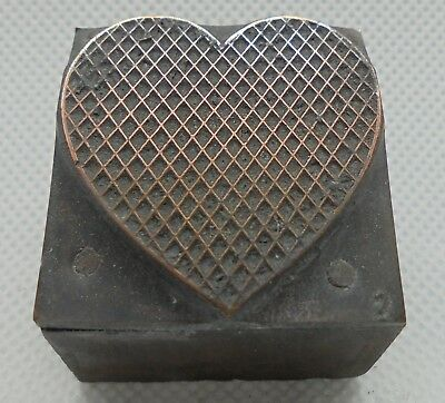 Vintage Printing Letterpress Printers Block Fancy Heart