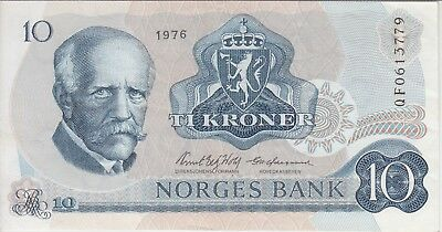 Norway Banknote P36r4 Replacement -3779, 10 Kroner 1976, VF