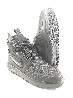 New Nike Lunar Force 1 LF1 Duckboot 17 Black Anthracite 916682-002 Mens Size 8