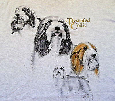 "Bearded Collie Sweatshirt  "" Ash "" MED ( 38 - 40 )"