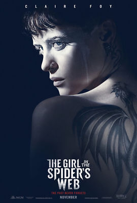 THE GIRL IN THE SPIDER'S WEB  New Orig D/S 27X40  Movie Poster Ver. A