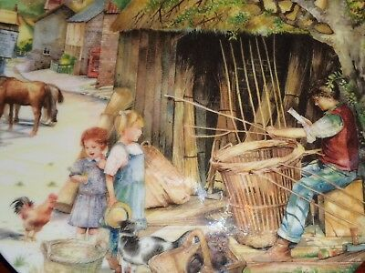 Royal Doulton Collectors Plate THE BASKET MAKER - OLD COUNTRY CRAFTS