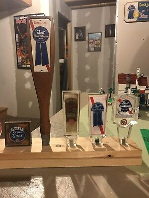 Pabst Blue Ribbon Tap Handle Lot Pbr Beer