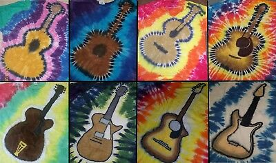 ADULT Handmade Tie Dye shirt GUITAR - ACOUSTIC / ELECTRIC: GIBSON, LES PAUL, ETC