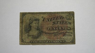 1863 $.10 Fractional Currency Note! Ten Cent Bill! Bank Stamp Act Civil War