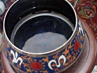 Rare Enamel On Silver Bowl French Spanish   With Arabic Influence