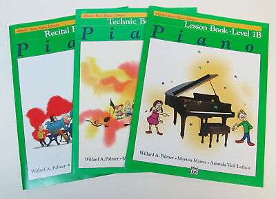 Alfreds PIANO Music Techinic Book LESSON Recital Level 1B Lot 3