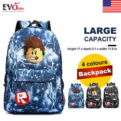 Roblox Backpack Kids Schoolbag Students Boys Gaming Bookbag Travelbag Handbag
