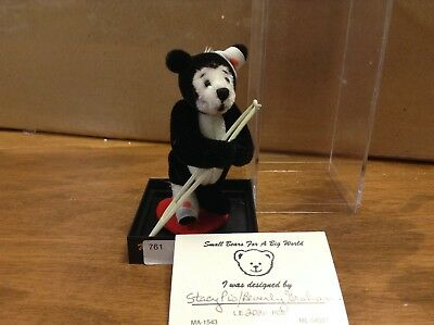 """Battle Scars"" miniature bear by artist Beverly Graham & Stacy Pio VERY RARE"
